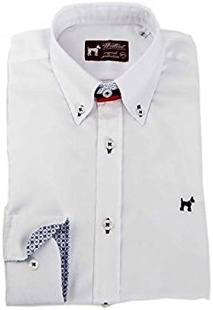 Camisa Oxford Estampada Blanca Hombre - Color - Blanco, Talla ...