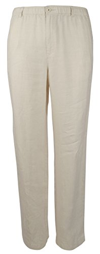 (Tommy Bahama Men's New Linen On The Beach Easy Fit Pant, Natural, LG (35-37