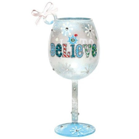 Santa Barbara Design Studio Lolita Holiday Wine Glass Ornament, Mini, I Still Believe -