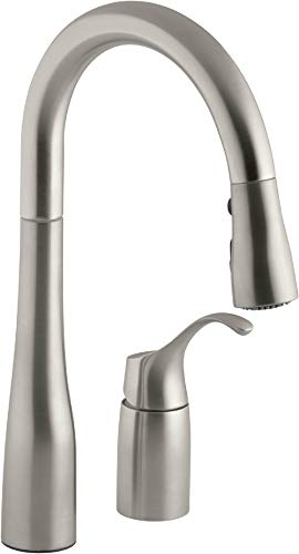 KOHLER K-649-VS Simplice Pull-Down Secondary Sink Faucet, Vibrant Stainless