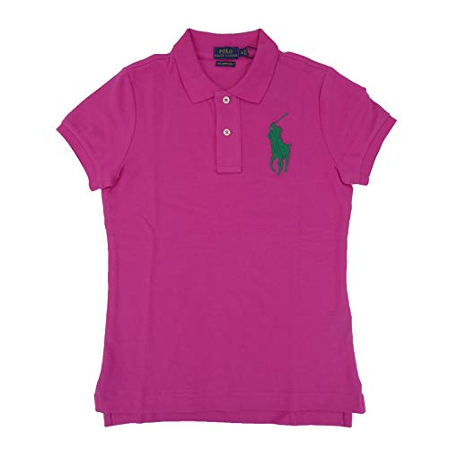 Polo Ralph Lauren Womens Skinny Big Pony Polo (X-Small, Active Pink)