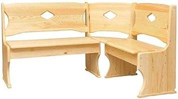 In legno massiccio 180 x 200 cm Coma panca angolare in legno di pino Altro colore