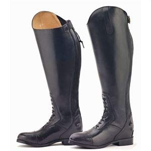 Ovation Ladies Flex Plus Black Field Boot, Wide Short, 9