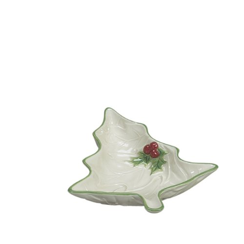Sadek Leaves (Andrea By Sadek Holly Leaf Christmas Tree Shaped Dip Bowl)