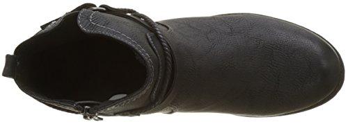 3797304 TOM Black Noir Damen Boots TAILOR Biker 4SPqx6H