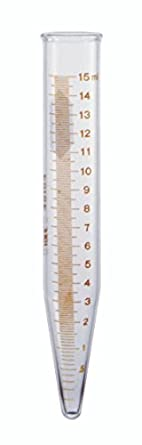 Kimble 45164-15 Glass Conical Bottom 15mL Graduated Centrifuge Tube with Red Stain Scale and Legend (Case of 12)