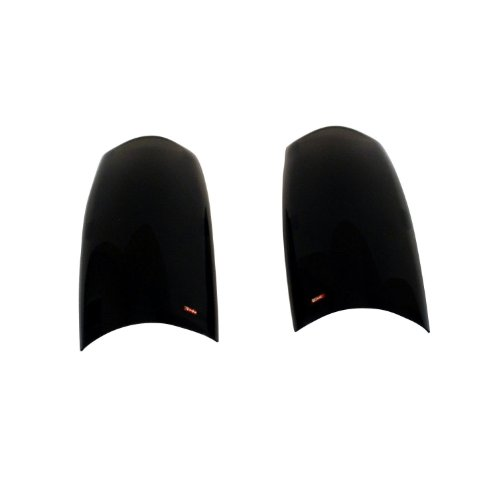 Wade 72-31846 Smoke Tint Solid Design Tail Light Cover - Pair