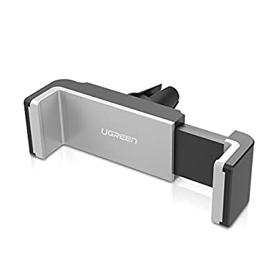 UGREEN Car Vent Mount Holder Air Vent Mount Phone Holder for iPhone 8, iPhone 7/7 Plus/6S/6 Plus 5S SE, Samsung Galaxy S7/S6 edge/S6 Cell Phones, GPS and Other Smartphones Up to 3.34 Inches Wide Black