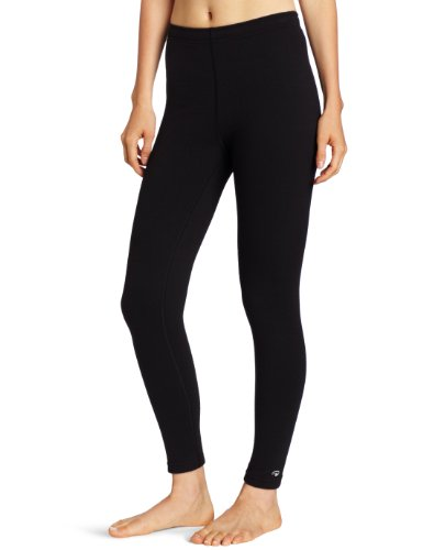 (Duofold Women's Heavy Weight Double Layer Thermal Leggings, Black, Large)