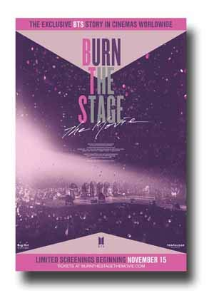 Burn The Stage The Movie Poster Movie Promo 11 x 17 inches Pink