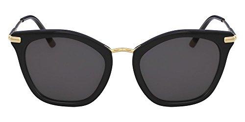 Óculos Ck Ck1231S 001 Preto Ouro Lente Cinza Flash Tam 54