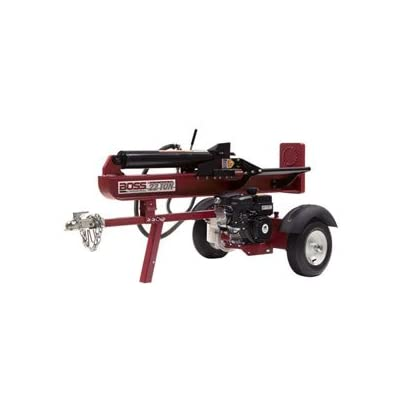 BOSS INDUSTRIAL GB22T25 22 Ton Gasoline Horizontal/Vertical Log Splitter, Dark Red