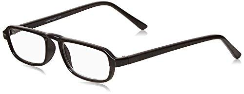 Dr. Dean Edell Plastic Black 1/2 Eye Rectangular and Case Reading Glass, +1.50