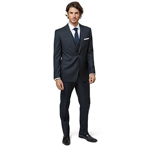 0b41a87bf0b 85%OFF Lanificio F.lli Cerruti Dal 1881 Cloth Men's Tailored Fit Navy Suit