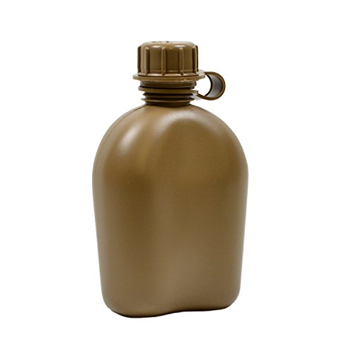 - Rothco Gi 1 Quart Plastic Canteen (3 Piece), Coyote Brown