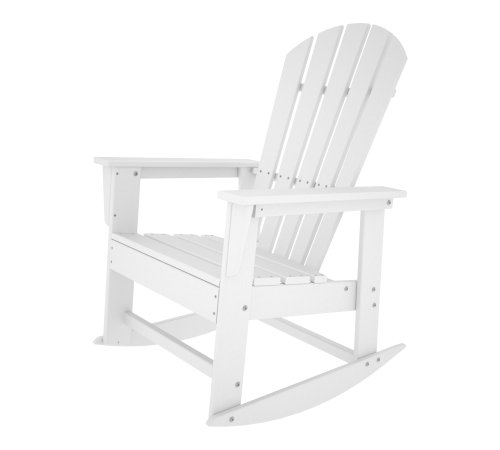 Polywood Shell (POLYWOOD SBR16WH South Beach Rocker, White)