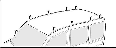 MINIBUS 5/portes /à partir de 2003/2//3//4/barres VDP XL Pro 200/Barres de toit Barres de charge 200/kg pour Mercedes Viano w447//W639/