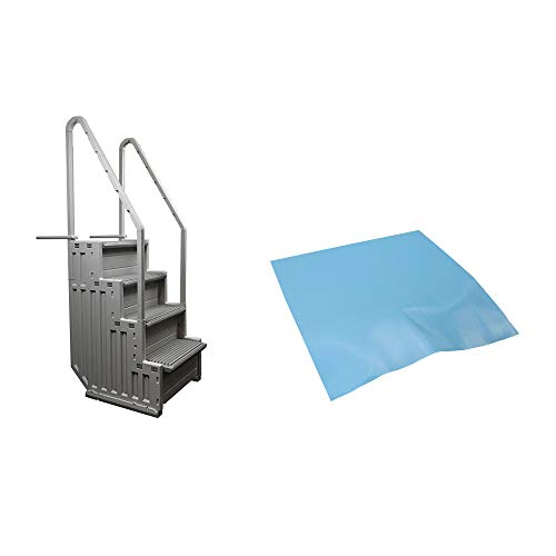 CONFER STEP-1 Above Ground Swimming Pool Ladder Step System Entry w/ Liner Pad (Confer Step)