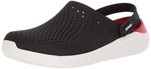 Crocs Unisex LiteRide Clog, Black/White, 10 US Men/ 12 US Women M US