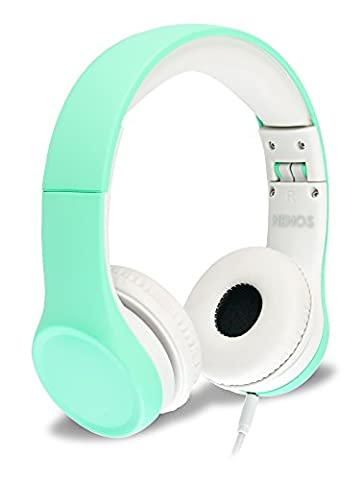 Nenos Children Headphones Kids Headphones Children's Headphones Over Ear Headphones Kids Computer Volume Limited Headphones for Kids (Bluetooth Aux Adapter Beats)