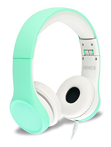 Nenos Children Headphones Kids Headphones Children's Headphones Over Ear Headphones Kids Computer Volume Limited Headphones for Kids Foldable (Mint) best to buy