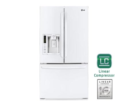 LG LFX25974SW 24.7 Cu. Ft. Smooth White French Door Refrigerator - Energy Star by LG