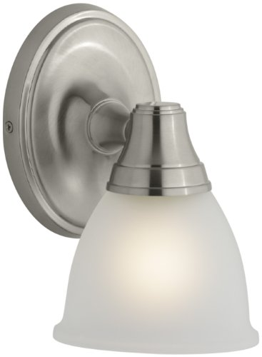 KOHLER K-11365-B Forté Transitional Single Wall Sconce, Vibrant Brushed Nickel -