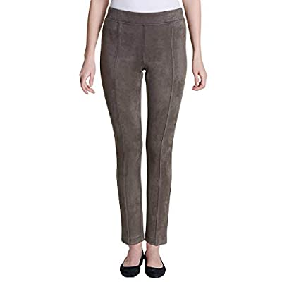 Andrew Marc Women's Super Soft Stretch Faux Suede Pull On Pants at Women's Clothing store