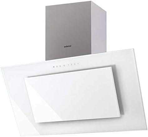 Edesa ECV-9831 GWH 850 m³/h De pared Acero inoxidable, Blanco A - Campana (850 m³/h, Canalizado/Recirculación, A, A, B, 67 dB): Amazon.es: Hogar