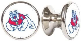 Fresno State Bulldogs NCAA Stainless Steel Cabinet Knobs 2-pack Drawer Pulls