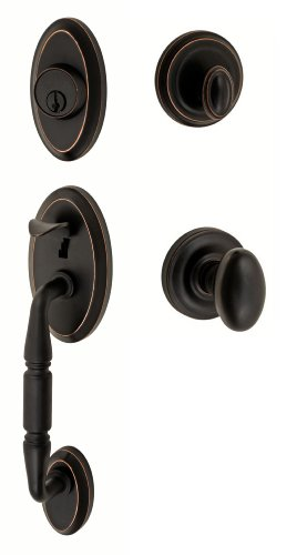 Fusion Hardware Bronze Knobs - Fusion Hardware H-02-S3-0-ORB Egg Weston Handleset with Two-Piece Interior, Oil Rubbed Bronze