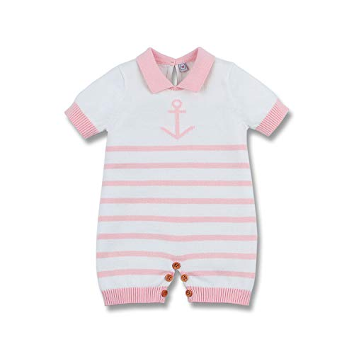 Pink Nautical Pack - mimixiong Nautical Baby Boy Romper Toddler Navy Bodysuit Clothing(Pink,0-6Months)