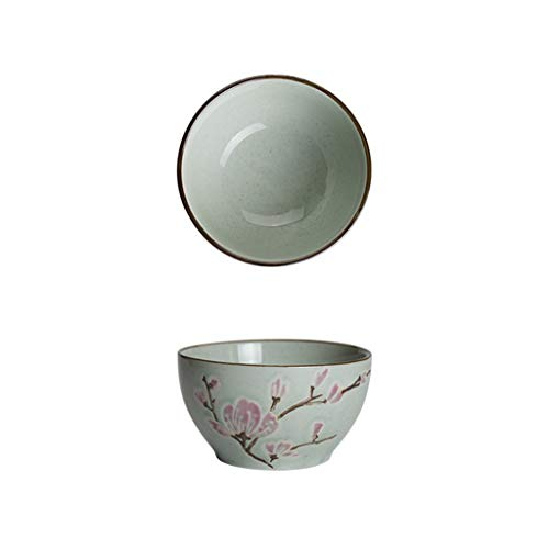 GJH-BOWL- Underglaze Embossed Ceramic Bowl Cutlery, Household Thickened Anti-scalding Soup Bowl, Cereal Bowls (Color : Pink, Size : Bowl)