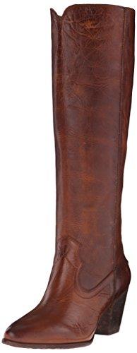Cognac mujer Tall Renee Frye 72069 Botas costuras de para con 6nZn08x