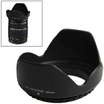 Black Screw Mount XIAOMIN 58mm Lens Hood for Cameras Premium Material