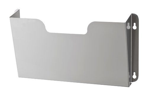 Buddy Products Wall Pocket, Letter Size, Steel, 7.25 x 2.5 x 14.5 Inches, Stainless Steel -