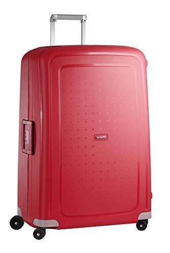 Samsonite S'Cure Spinner – Maleta de equipaje, XL (81 cm – 138 L), Rojo (Crimson Red)