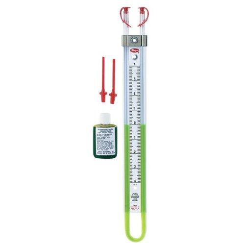 Dwyer Flex-Tube Series 1222 U-Tube Manometer, 6-0-6'WC using Red Gauge Fluid