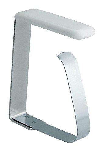 Home Xpert 4er Set Tischtuchklammern, Tischdeckenklammern, Tischtuschhalter aus Edelstahl für Tischplatten bis 45 mm
