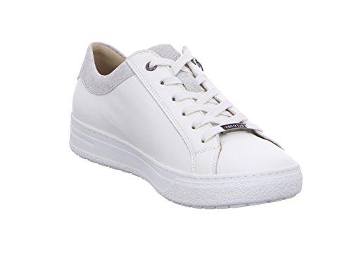 Blanco De Zapatos alum Cordones Piel Hartjes Para Wei Mujer Weiss gqBZY