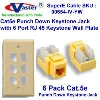 cat 5 wall plate wiring diagram amazon com superecable 00654 cat5e punch down  6 pcs  superecable 00654 cat5e punch down