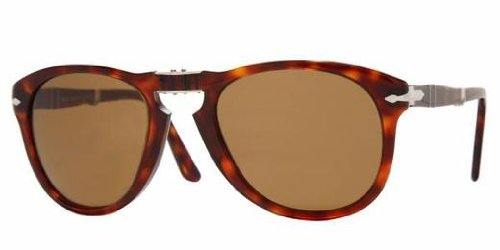 Persol PO0714 Havana/ Polarized Brown Size 52mm - Handmade Sunglasses Persol