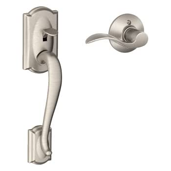 Camelot Front Entry Handle Accent Right-Handed Interior Lever (Satin ...