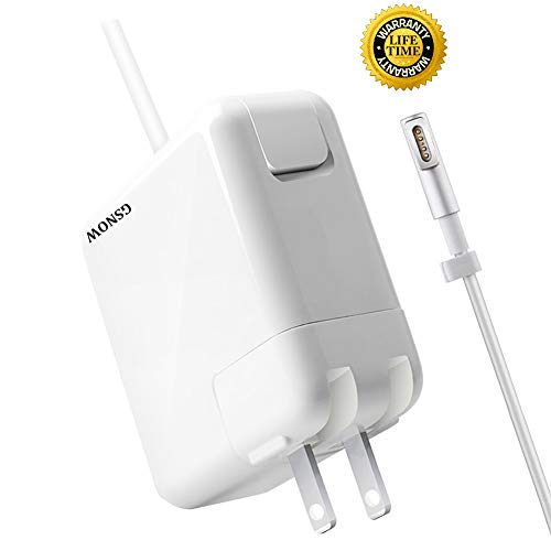 Mac Book Pro Charger, Replacement 60W Magsafe 1 Power Adapter L-Tip Magnetic Connector Charger for Apple MacBook Pro 11 and 13 inch (2009-Mid ()