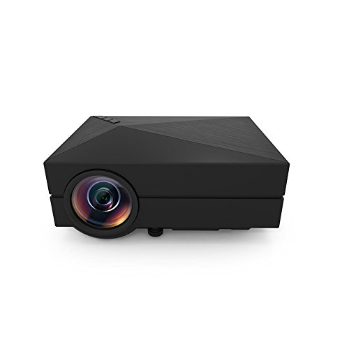 Shenboxun Mini LED LCD Projector Full Color Max 130'' Mini Portable 1080P Home Cinema Theater Multimedia Projector Support HD PC USB HDMI AV VGA for Video Movie Child Games Entertainment by Shenboxun