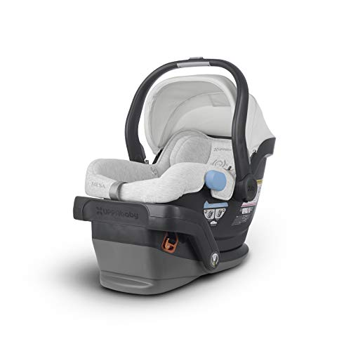 (UPPAbaby MESA Infant Car Seat - Bryce (White & Grey Marl), Standard)