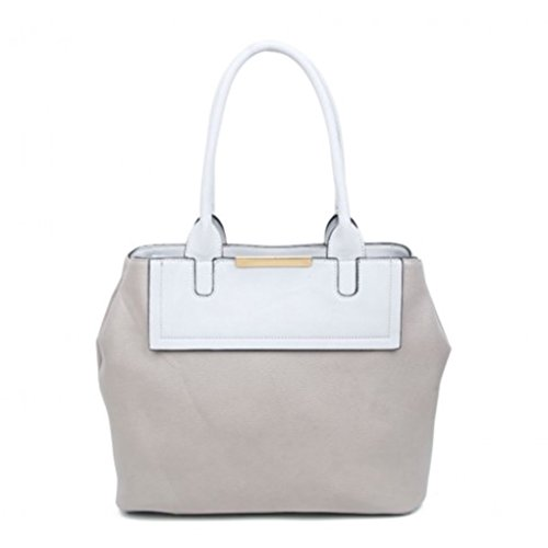 141101 Designer Bag Handbags Grey Tote Pockets Weight Leahward Soft Fashion Compartment Light Zip Ladies Shoulder 4w6PqET