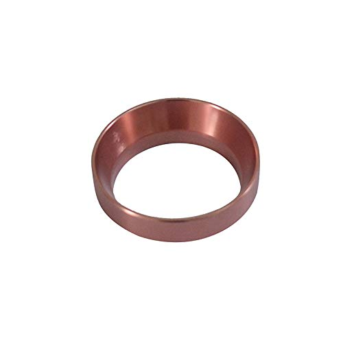 Aluminuml Portafiler ring Dosing Ring Intelligent Coffee powder ring 58MM for Brewing Bowl Coffee Powder Espresso Barista Tool Black/Gold/Stainless steel/Rose Gold No magnetic (Rose Gold)