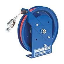 Coxreels SD-100-1 Spring Rewind Static Discharge Cable Reel: 100' stainless steel cable