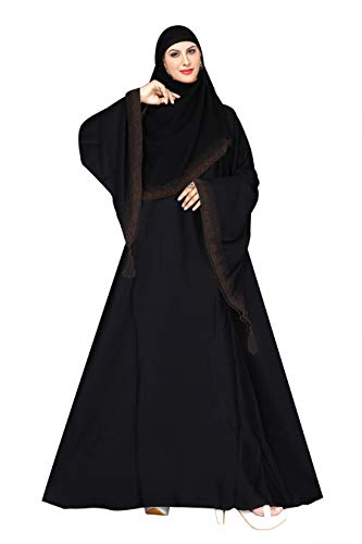 ZEENAT FAB ABAYA BURKHA IN NIDA MATIRIAL WITH UMBRELLA SLEEVE